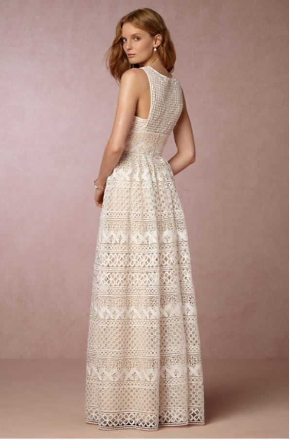 BHLDN 'Teagan' size 4 new wedding dress back view on model