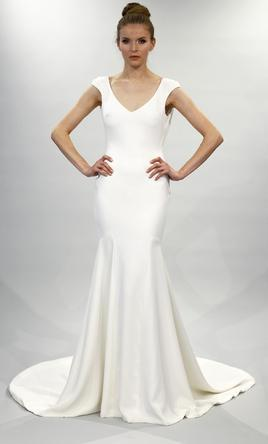 Theia 'Daria' size 8 used wedding dress front view on model