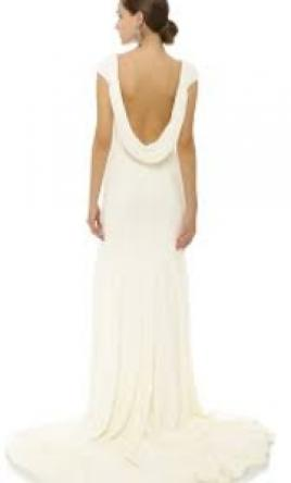 Theia 'Daria' size 8 used wedding dress back view on model
