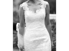 Anna Maier 'Aimee' size 2 used wedding dress front view on bride