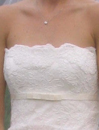 Stewart Parvin 'Spellbound' size 6 used wedding dress front view close up of bust line