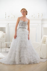 Veluz Reyes 'Karenina' size 2 sample wedding dress front view on model