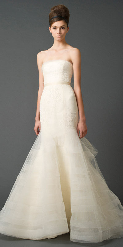 Vera Wang Georgina Trumpet Wedding Dress - Vera Wang - Nearly Newlywed Bridal Boutique - 1