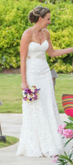 Maggie Sotttero 'Brittania' size 6 used wedding dress front view close up
