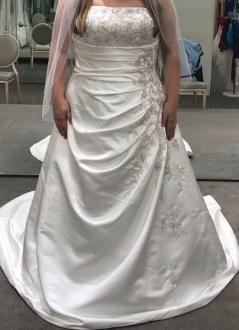 David's Bridal 'Beaded Dress'