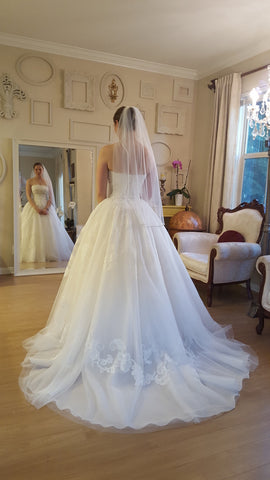 White by Vera Wang 'Strapless Tulle'