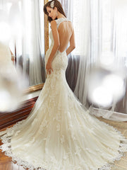 Sophia Tolli 'Robin' size 2 used wedding dress back view on model