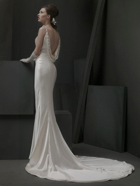 St. Pucchi Satin Style Z343 - St Pucchi - Nearly Newlywed Bridal Boutique - 1