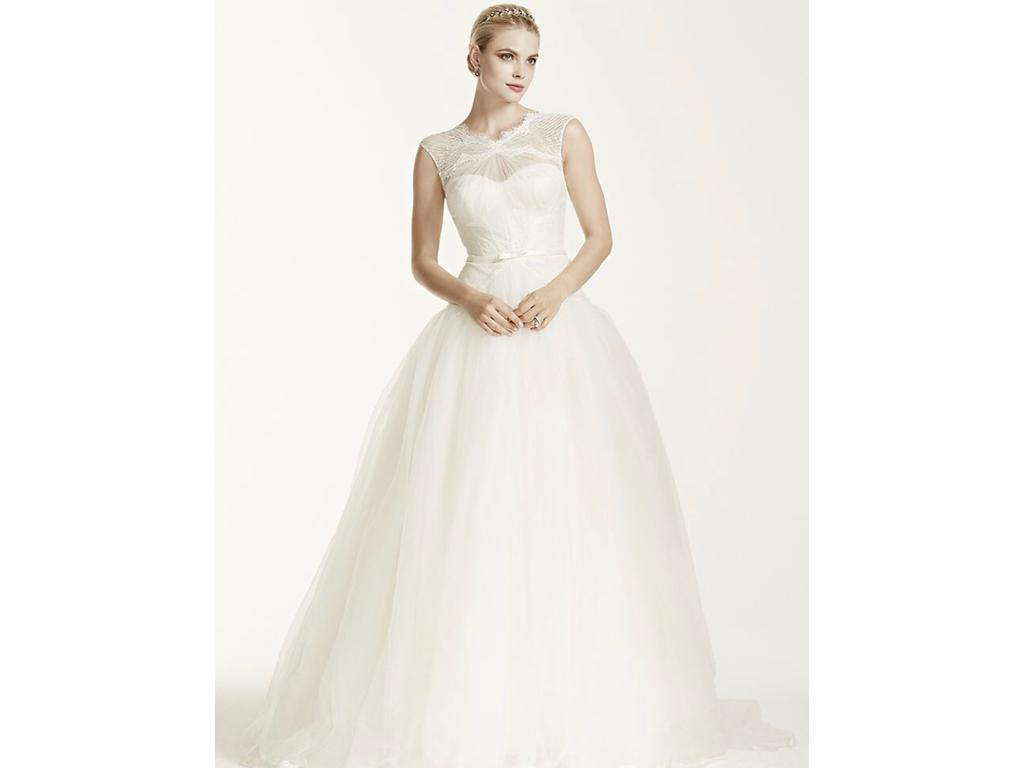 Zac Posen '345016' size 8 new wedding dress front view on model