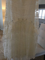 Galina 'VW9340 Ivory Trumpet' size 10 used wedding dress view of fabric