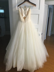 Tara Keely '2161' size 8 used wedding dress back view on hanger