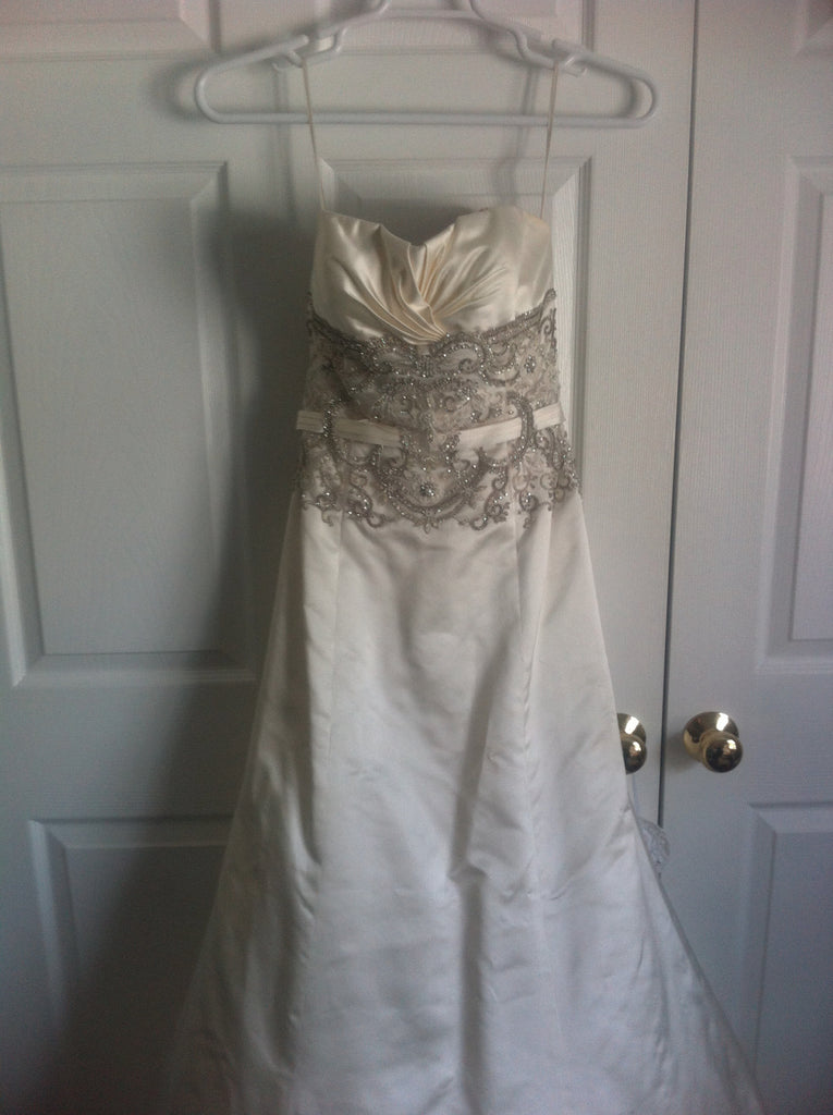 Rivini Fit and Flare with veil - Rivini - Nearly Newlywed Bridal Boutique - 1
