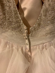 Allure 'Sequin' size 16 used wedding dress back view on hanger