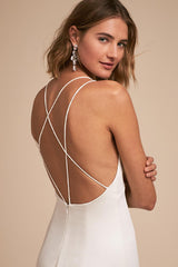 Jenny Yoo 'Estelle' size 00 used wedding dress back view close up