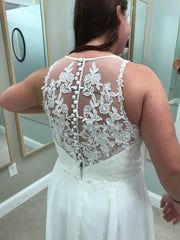 Lillian West '6515' size 12 used wedding dress back view close up