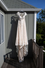 Essence of Australia 'D1999' size 12 used wedding dress front view on hanger