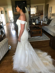 Maggie Sottero 'Afton' size 14 new wedding dress side view on bride