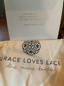 Grace Loves Lace 'Inca' size 2 used wedding dress view of tag