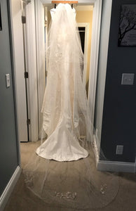 Demetrios '3002' wedding dress size-10 PREOWNED