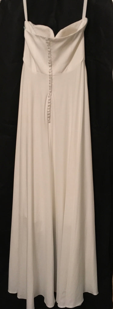Carrie's Bridal 'Strapless Sweetheart' size  6 new wedding dress back view on hanger