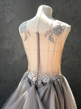 Load image into Gallery viewer, Creature of Habit 'Custom Tulle' size 6 new wedding dress back view close up