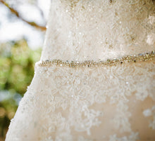 Load image into Gallery viewer, Sophia Tolli 'Prinia' size 18 used wedding dress front view close up
