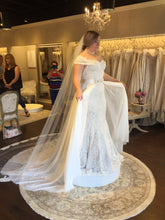 Load image into Gallery viewer, Olia Zavozina 'Fawnie' size 12 new wedding dress side view on bride