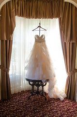 Martina Liana '821' size 8 used wedding dress front view on hanger