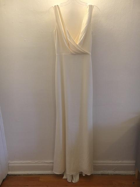 Badgley Mischka 'Livia' size 2 sample wedding dress front view on hanger
