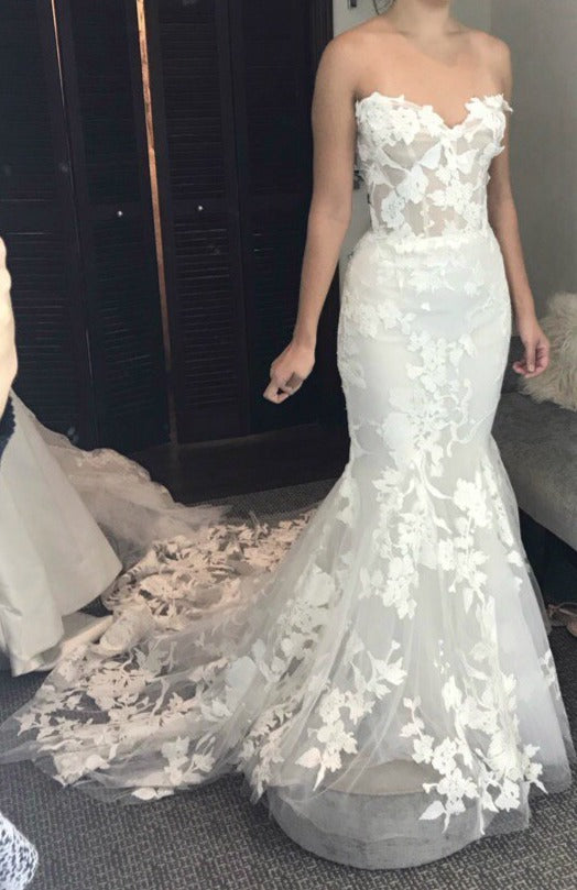 Monique Lhuillier Willow Size 4 Used Wedding Dress Nearly Newlywed