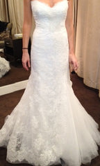 Monique Lhuillier Trumpet Lace Emma Wedding Dress - Monique Lhuillier - Nearly Newlywed Bridal Boutique - 2