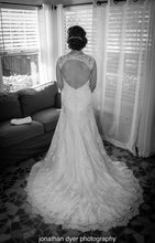 Load image into Gallery viewer, Casablanca 'sea breeze ' wedding dress size-12 PREOWNED