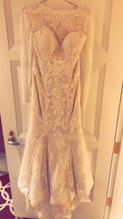 Justin Alexander '8918' size 12 used wedding dress front view on hanger