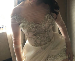 Galia Lahav 'Aria' size 4 used wedding dress front view close up