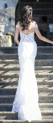 Nicole Spose 'NIAB 1840' size 6 used wedding dress back view on bride