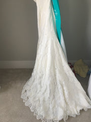 Essence of Australia '1417' size 8 used wedding dress view of train