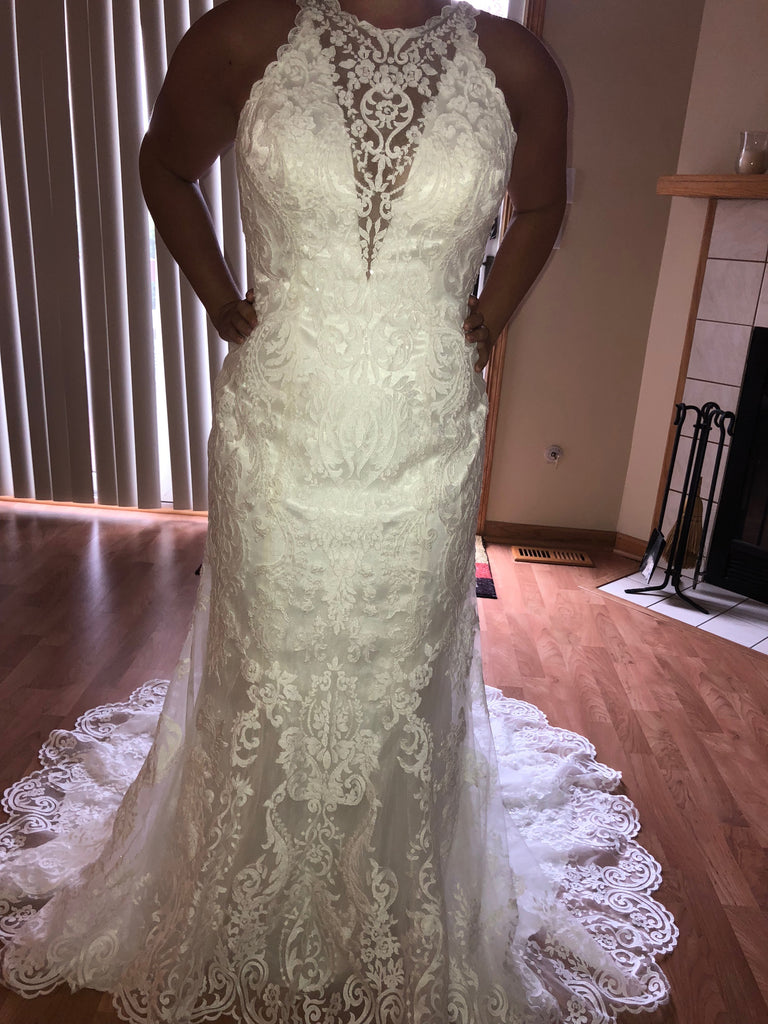 Maggie Sottero 'Winifred' size 10 new wedding dress front view on bride