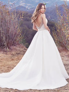 Maggie Sottero 'Rory' size 16 new wedding dress back view on model