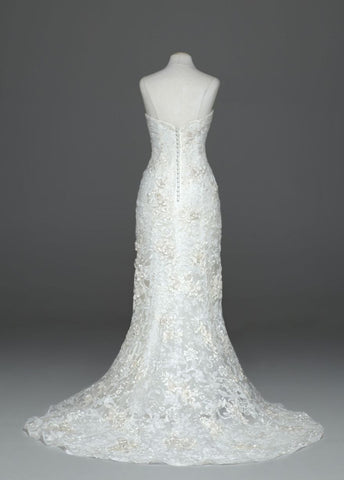 Oleg Cassini Strapless Lace