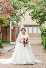 Load image into Gallery viewer, Matthew Christopher 'Abigail' size 12 used wedding dress front view on bride