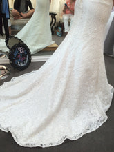 Load image into Gallery viewer, Alfred Angelo '2524' size 6 new wedding dress view of train