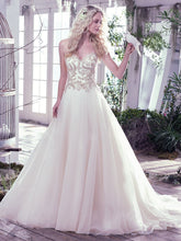 Load image into Gallery viewer, Maggie Sottero 'Lorenza' size 4 used wedding dress front view on model