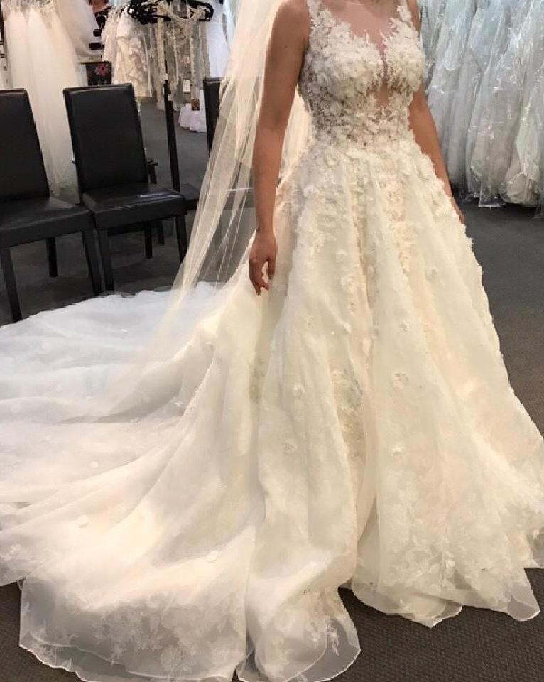 Mori Lee '8128' size 14 new wedding dress front view on bride