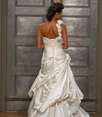 Alita Graham Crisscross Ruched Pickup Gown - Alita Graham - Nearly Newlywed Bridal Boutique - 2