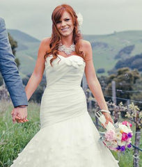 Melissa Sweet 'Uma' Silk Organza Petal Gown - Melissa Sweet - Nearly Newlywed Bridal Boutique - 3