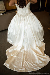 Allure '9003' size 8 used wedding dress back view on bride