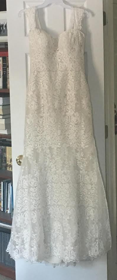 Allure Romance '2700' size 12 new wedding dress front view on hanger