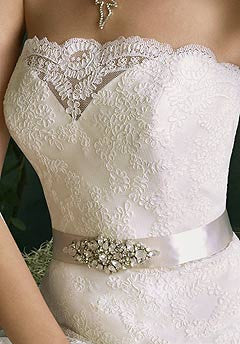 Tara Keely '2053' Lace Strapless Gown - Tara Keely - Nearly Newlywed Bridal Boutique - 4