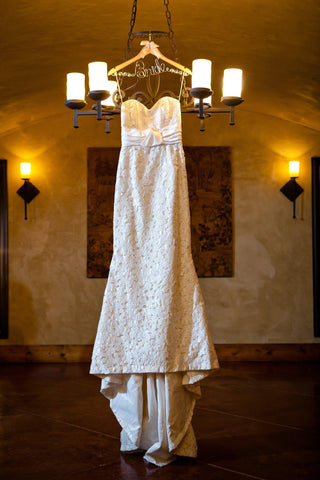 Elizabeth Fillmore 'Amelia' Ivory Silk & Lace Wedding Dress