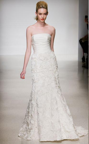 Amsale 'Penelope' Floral Wedding Dress - Amsale - Nearly Newlywed Bridal Boutique - 1